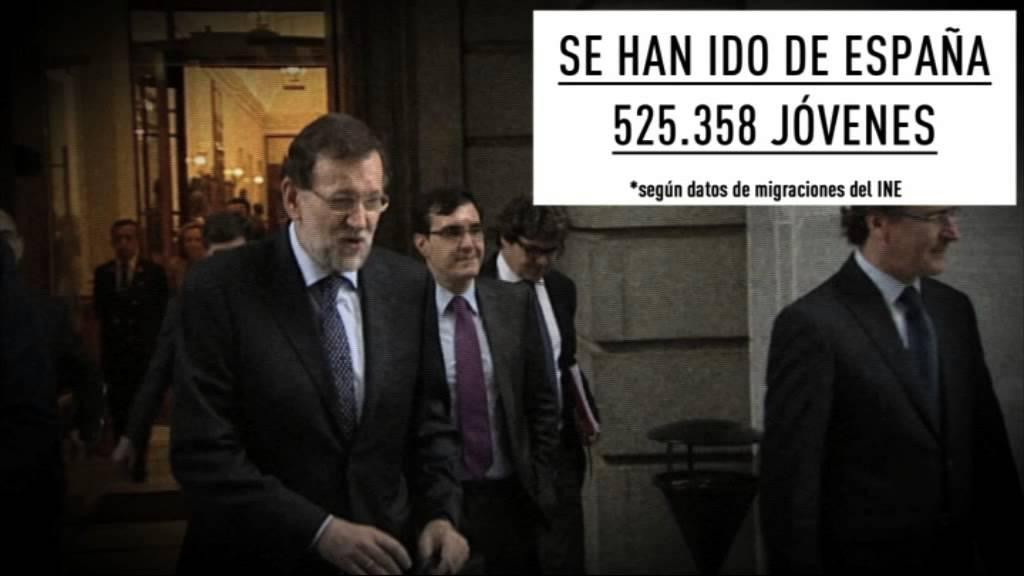 Rajoy MIENTE. La Juventud se va, pero el se tiene que ir es Rajoy