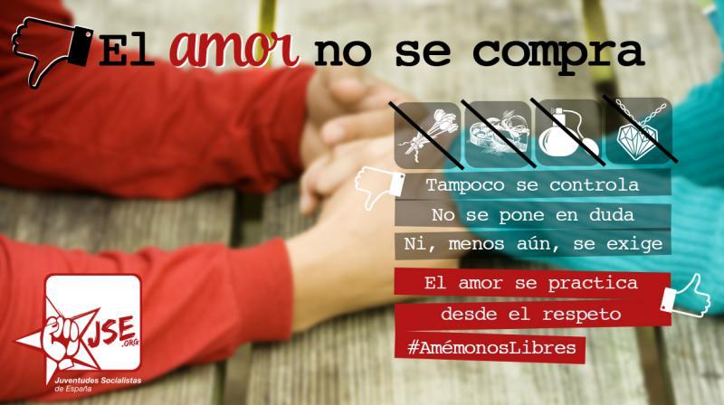 Juventudes Socialistas alerta de los peligros del amor romántico