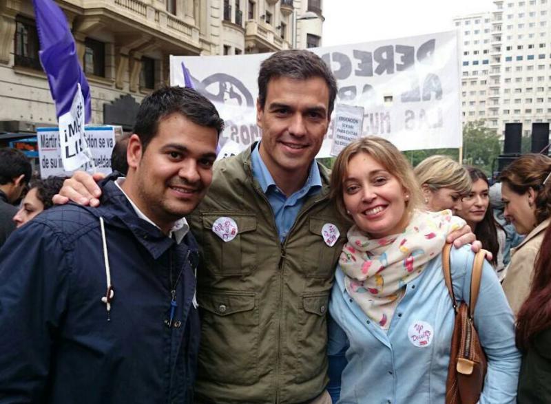 Juventudes Socialistas en la manifestación por un Aborto Libre, Seguro y Gratuito