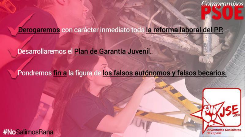 Los compromisos del PSOE con el empleo son sensibles a la actualidad de la juventud en la vida laboral