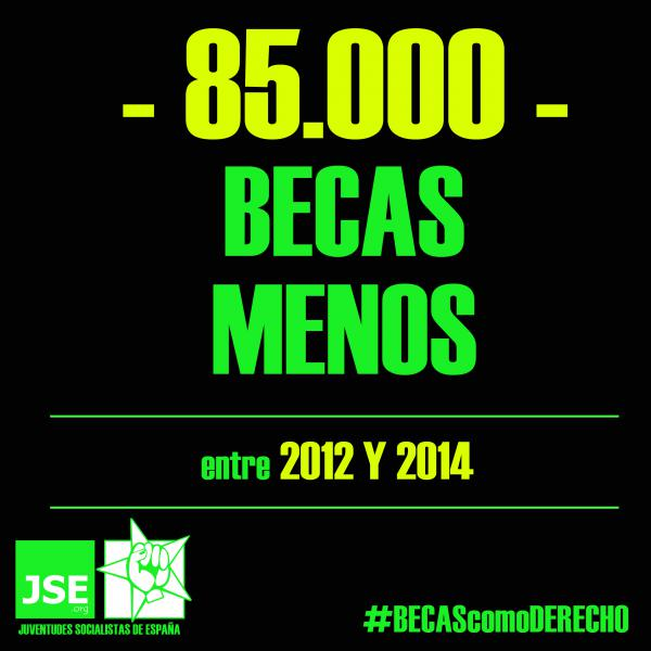 85.000 becas menos centre 2012 y 2014