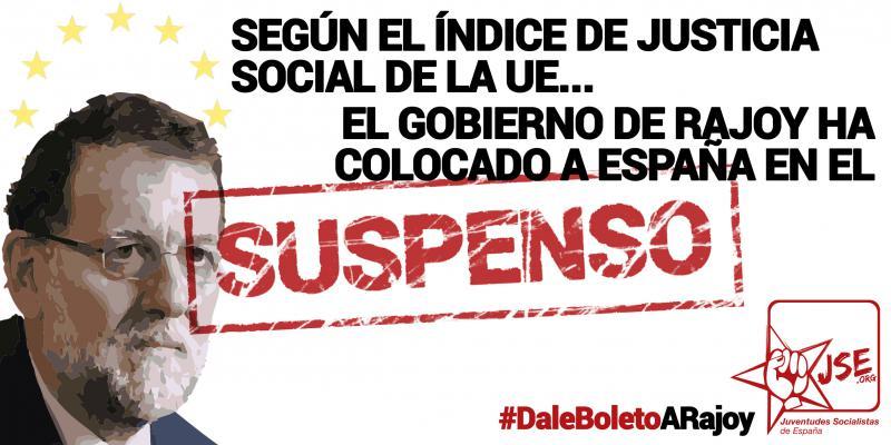 Juventudes Socialistas suspende a Rajoy y reivindica políticas para acabar con la brecha social