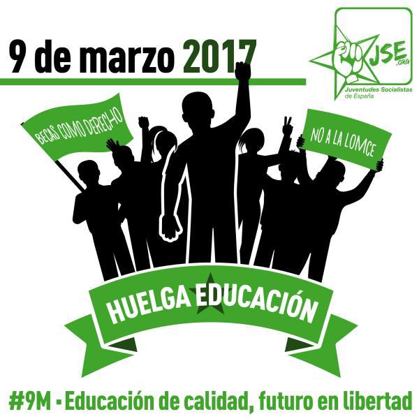 Juventudes Socialistas llama a la Huelga General Educativa