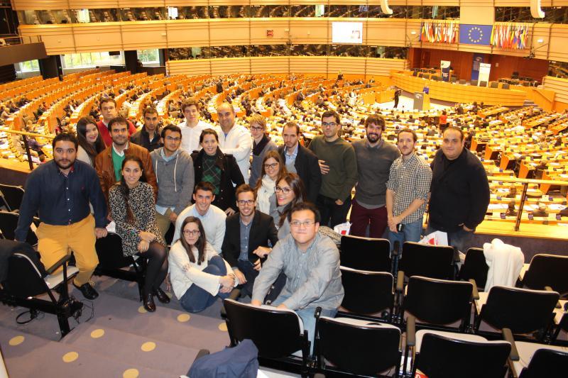Juventudes Socialistas de España visita el Parlamento Europeo