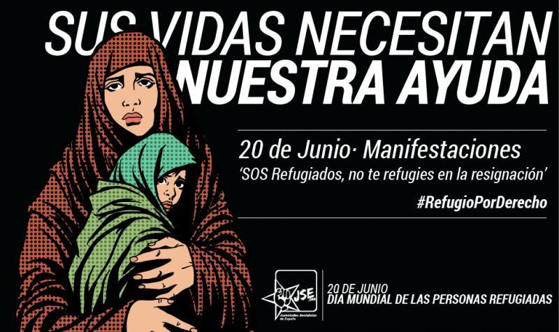 Juventudes Socialistas anima a participar en las movilizaciones por el Día de las personas refugiadas