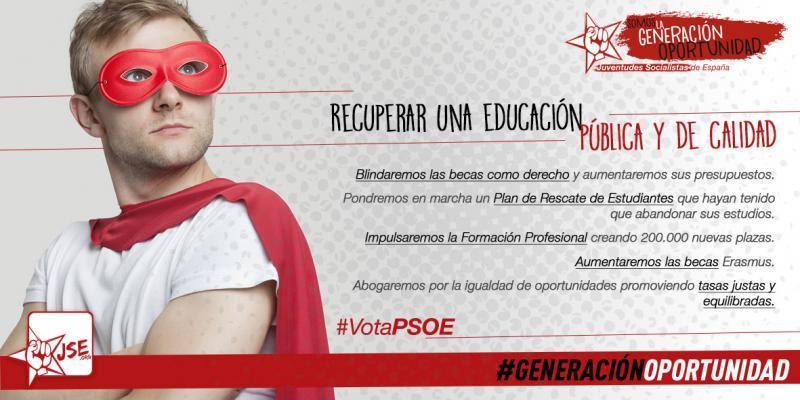 """JSE: """"Las y los socialistas recuperaremos la educación pública y de calidad"""""""