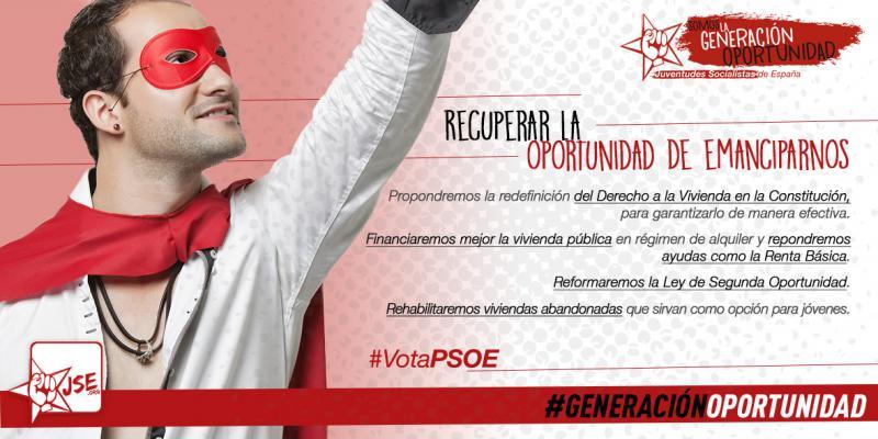 """JSE: """"Sólo con Pedro Sánchez las y los jóvenes recuperaremos la oportunidad de emanciparnos"""""""