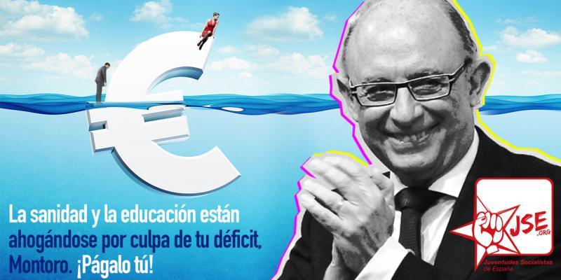 La sanidad y la educación están ahogándose por culpa de tu déficit, Montoro. Págalo tú