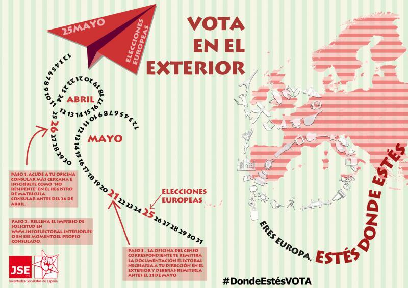 Cómo votar si resides temporalmente en el exterior