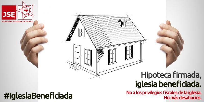 Campaña Hipoteca firmada, iglesia beneficiada