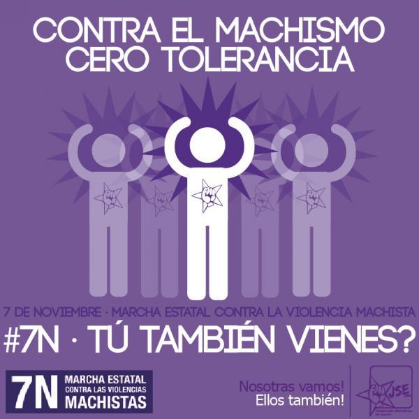 JSE se adhiere a la convocatoria de la marcha estatal contra las violencias machistas del 7N