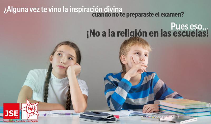 Campaña ¡No a la religión en las escuelas!