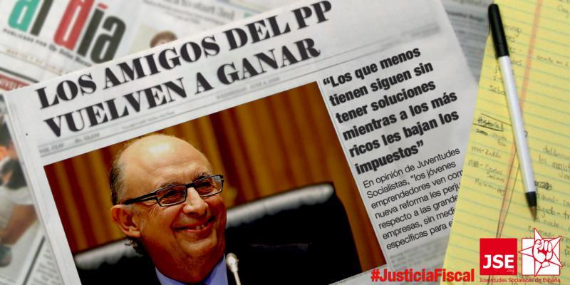 """JSE: """"La juventud vuelve a sufrir el golpe de la derecha con sus injustas medidas fiscales"""""""