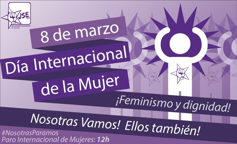 Juventudes Socialistas reivindica feminismo y dignidad