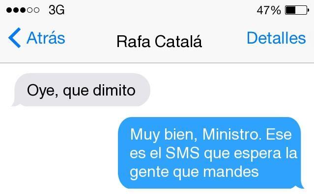 JSE reclama la dimisión de Rafael Catalá con un SMS fake