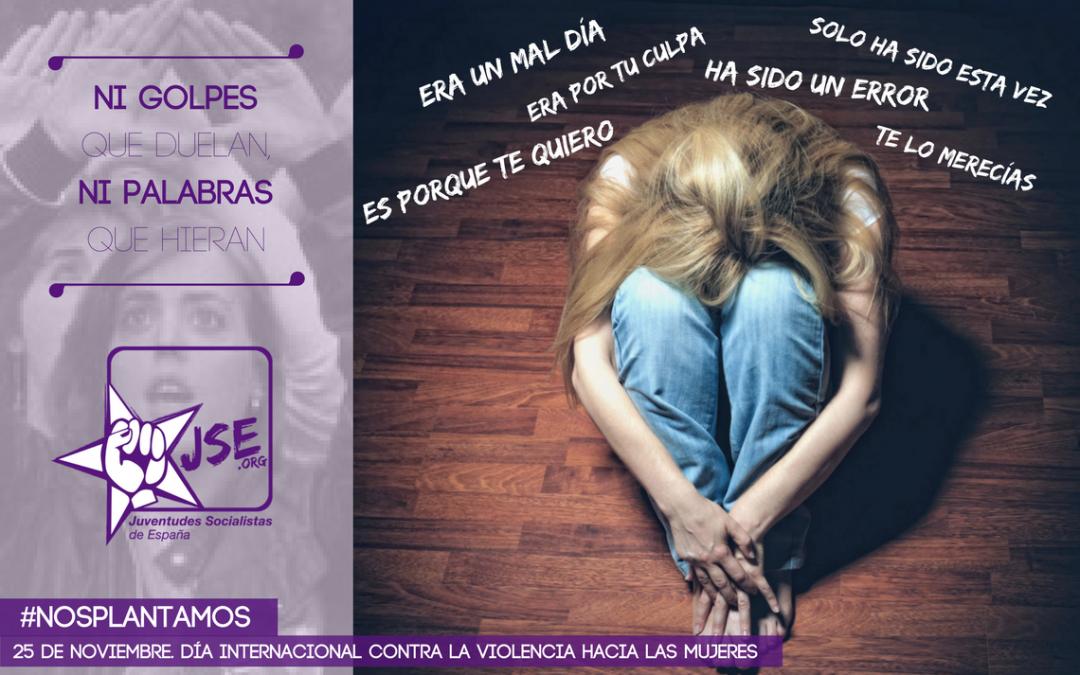 Juventudes Socialistas de España reitera su compromiso por la igualdad y se suma a los actos del Día Contra la Violencia de Género