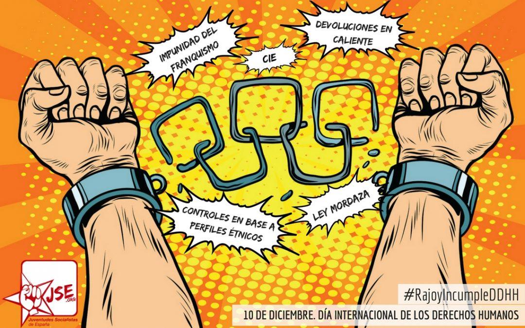 Juventudes Socialistas de España exige a Rajoy que respete los Derechos Humanos