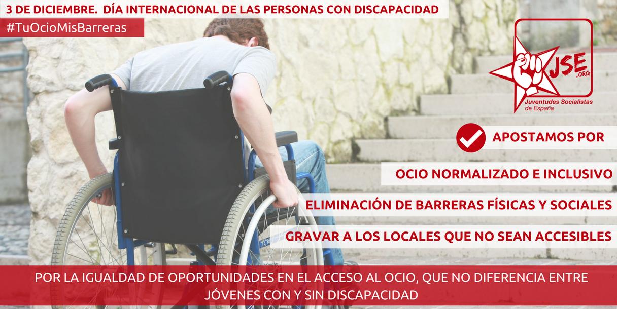 JSE apuesta por la eliminación total de barreras que imposibilitan un ocio normalizado de los jóvenes con discapacidad