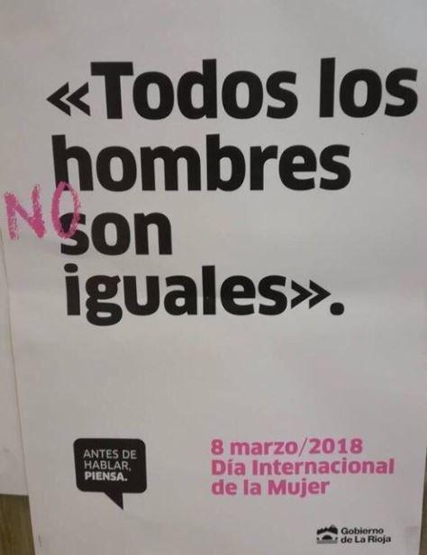 JSE exige la retirada inmediata de la campaña institucional del Gobierno de La Rioja con motivo del 8M por machista.