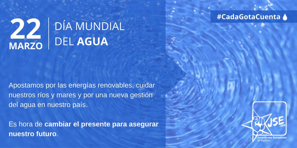 Juventudes Socialistas exige políticas para mejorar la actual gestión del agua y proteger nuestros ríos y mares.