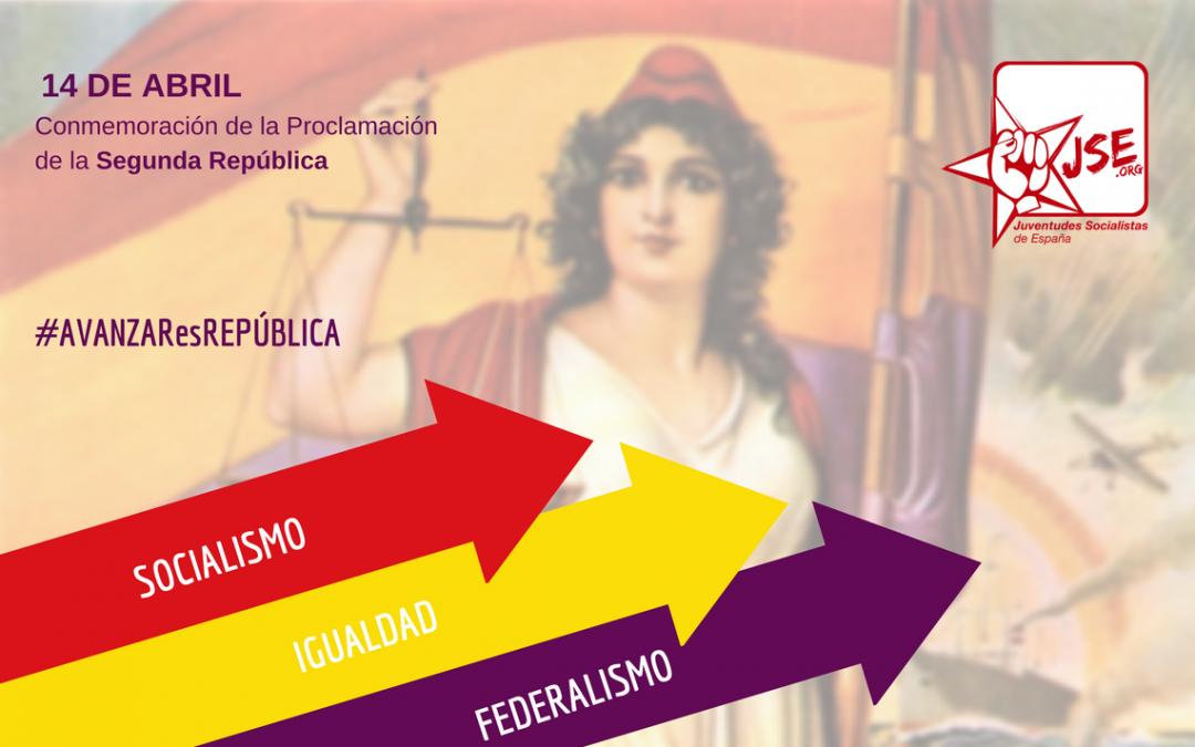 """Juventudes Socialistas reivindica """"avanzar hacia la Tercera República"""" con motivo del 14 de Abril."""