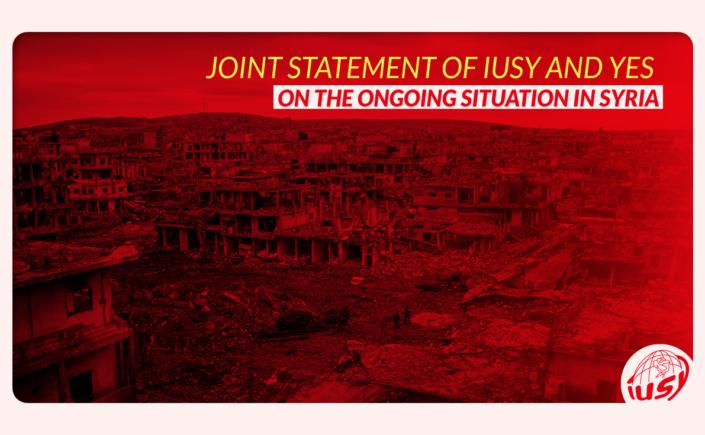 """Los jóvenes socialistas europeos, la IUSY y JSE se muestran """"profundamente preocupados"""" por la escalada de la tensión en Siria."""
