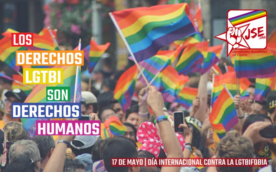 Juventudes Socialistas exige implementar medidas de apoyo al colectivo LGTBI.