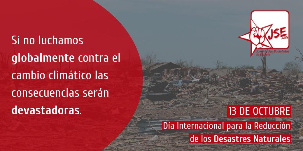 JSE reclama la implicación de toda la comunidad internacional en la reducción de los desastres naturales.
