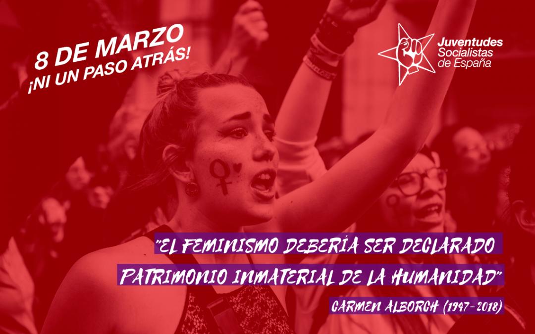 JSE reitera su compromiso con la lucha por la igualdad real y se suma a la huelga feminista.