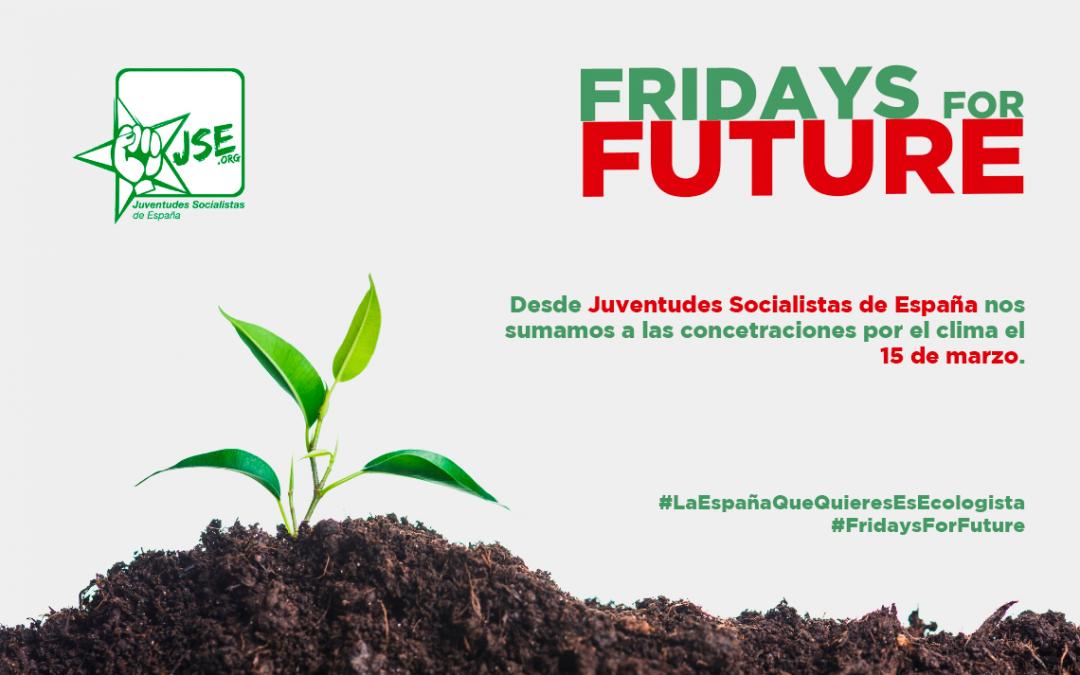 Juventudes Socialistas se suma al movimiento ecologista estudiantil #FridaysForFuture.