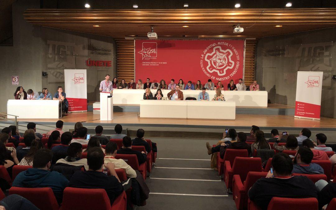 Juventudes Socialistas de España celebró su Conferencia Política y aprobó diversos cambios orgánicos.