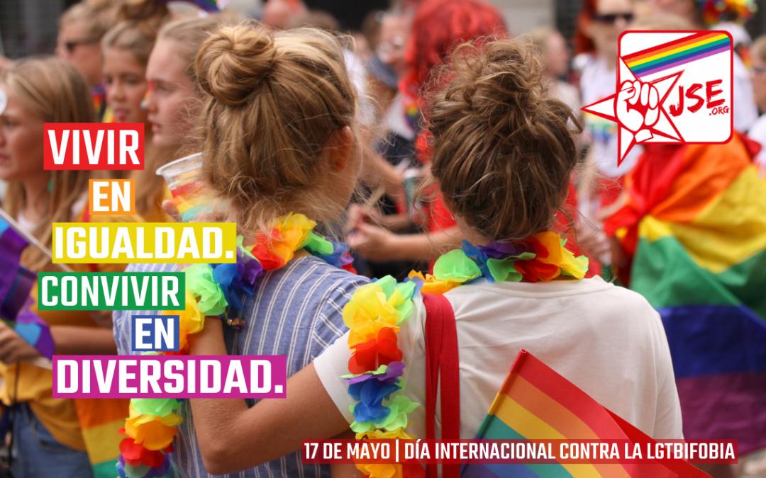 JSE reivindica educar en la diversidad con motivo del Día Mundial contra la LGTBIfobia.