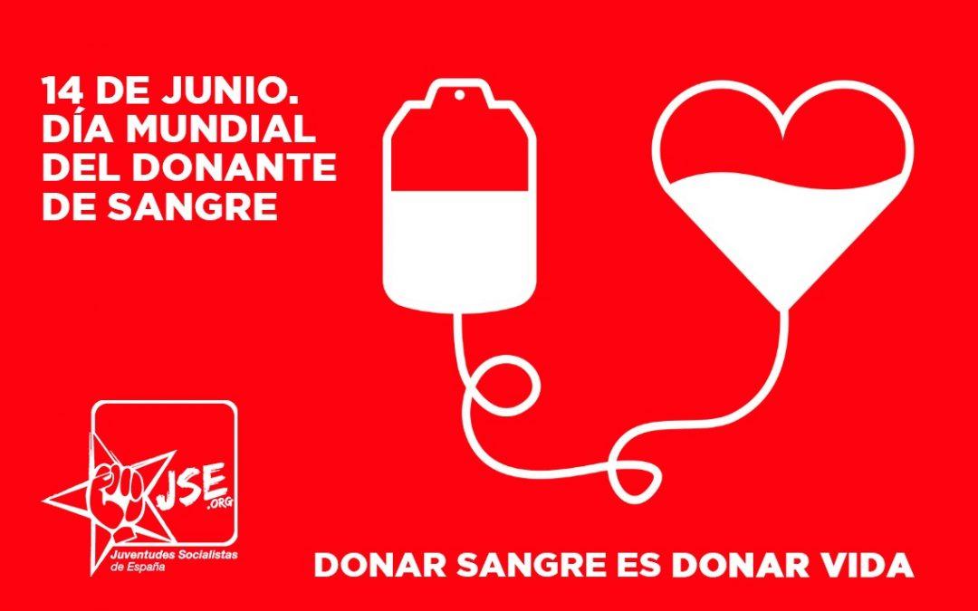Juventudes Socialistas se une a la campaña de la Organización Mundial de la Salud (OMS) por el Día Mundial del Donante de Sangre
