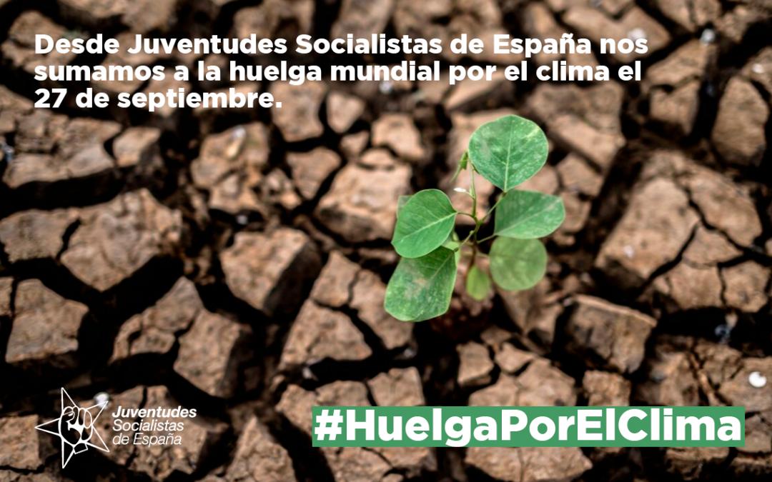 Juventudes Socialistas de España se suma a la huelga mundial por el clima el 27S.