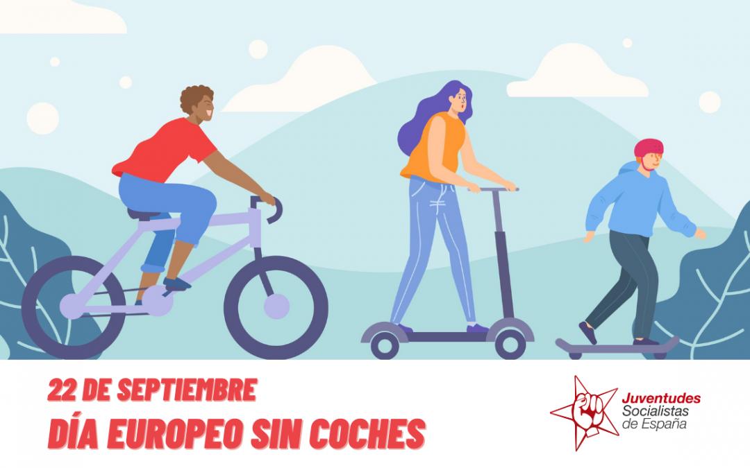 Juventudes Socialistas apuesta por fomentar medios de transporte sostenibles en el Día Europeo sin coches.