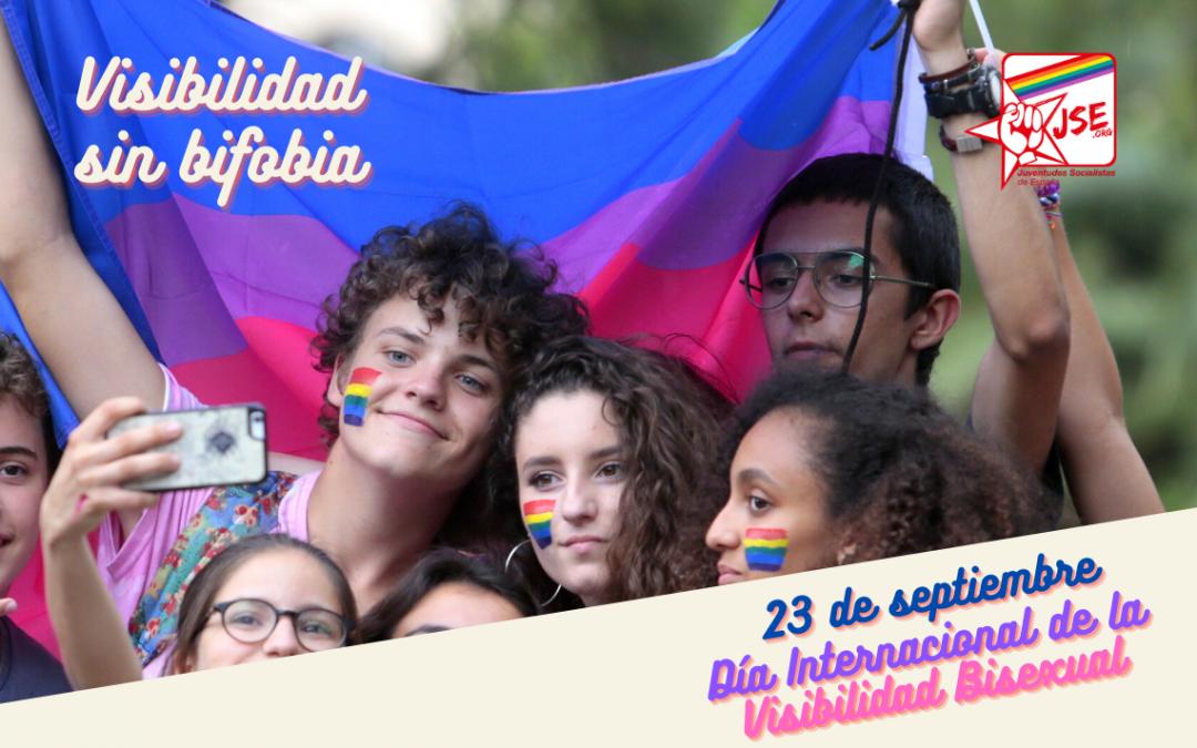 JSE reivindica la visibilidad de las personas bisexuales y su reconocimiento legal y diario en la sociedad.