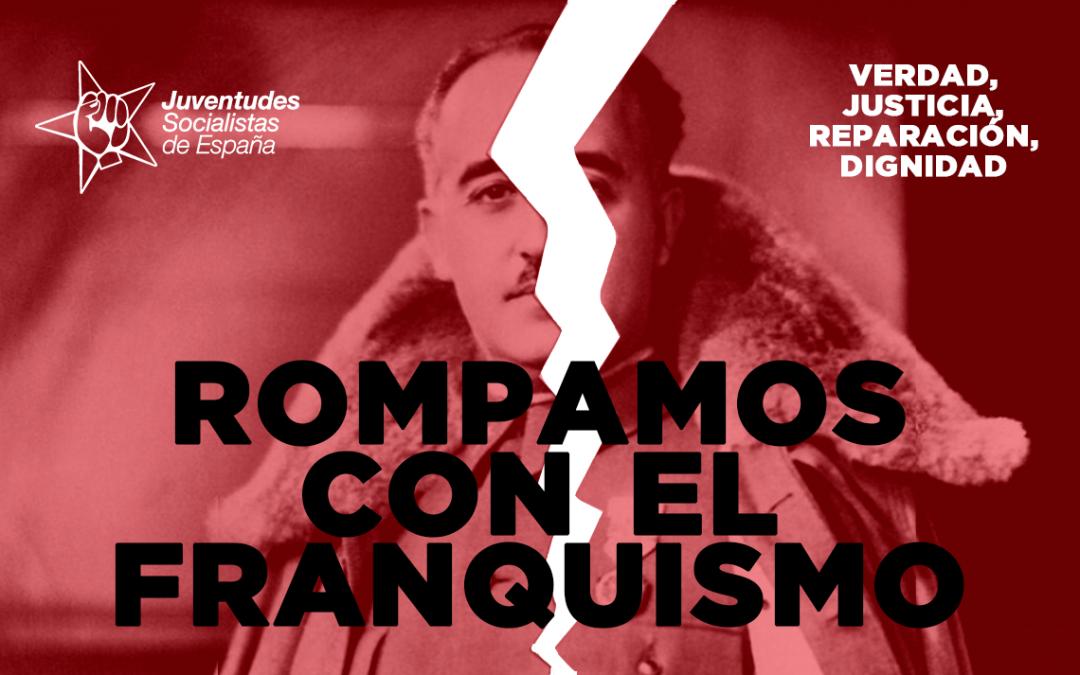 JSE espera que con la nueva Ley de Memoria Democrática desaparezcan los últimos vestigios del franquismo presentes en toda la geografía española.