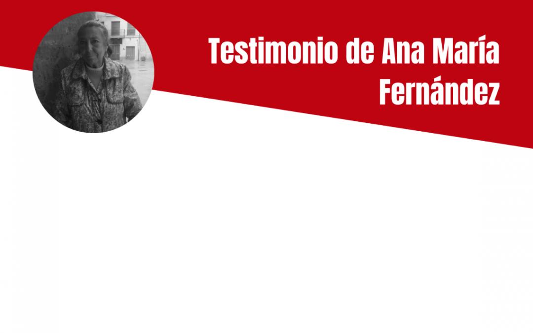 Testimonio de Ana María Fernández Delgado