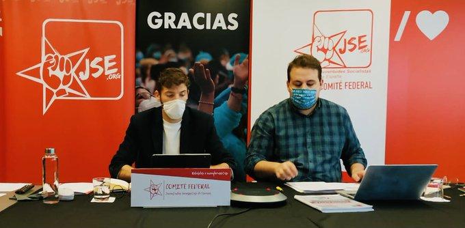 Las Juventudes Socialistas de España celebran por primera vez un Comité Federal Telemático por debido a la COVID-19.