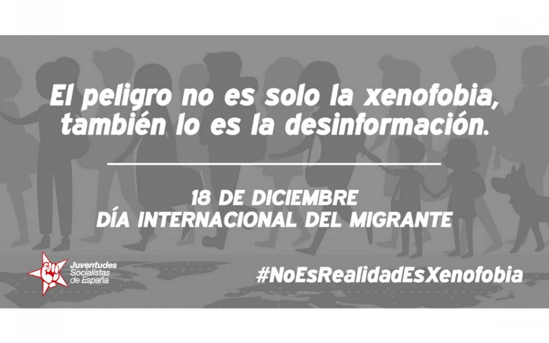 JSE lanza la campaña #NoEsRealidadEsXenofobia con motivo del Día Internacional del Migrante.