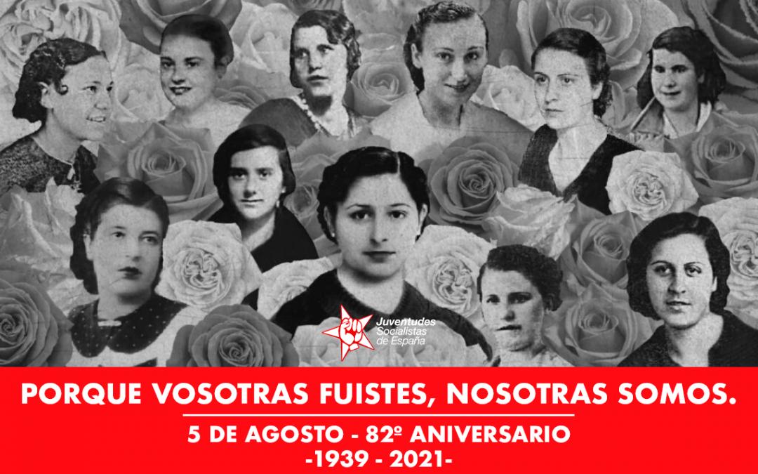 JSE conmemora el 82 aniversario del fusilamiento de las Trece Rosas.
